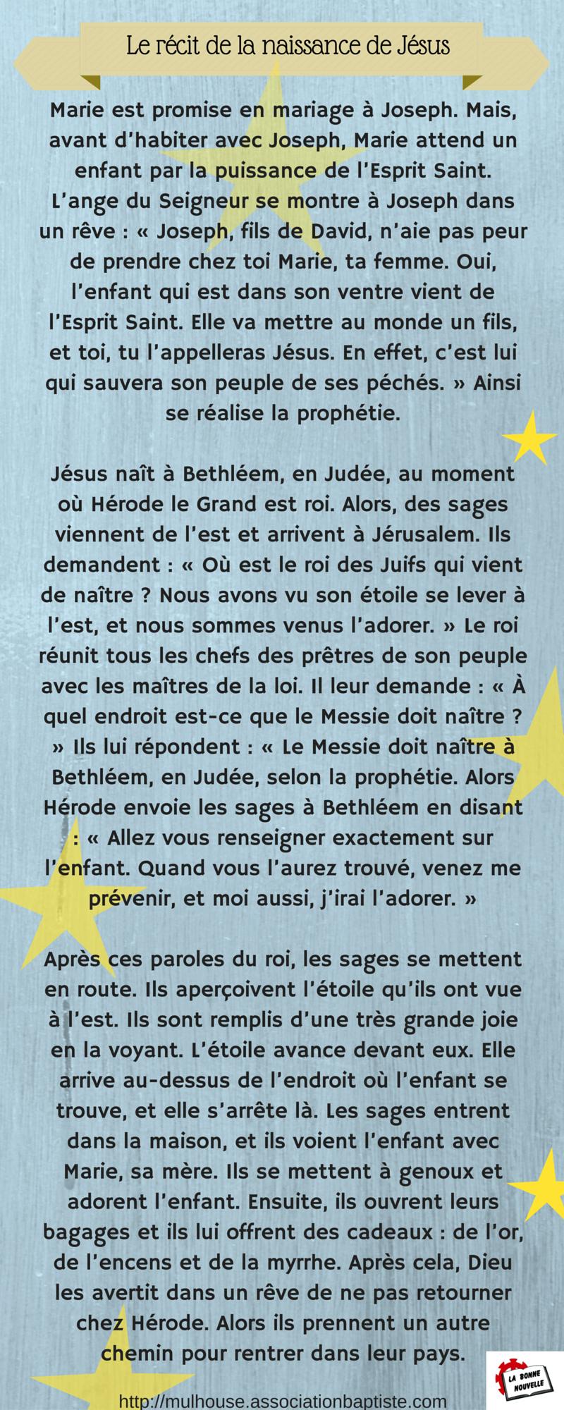 Le récit de la naissance de Jésus (2)