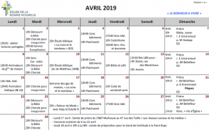 programme du mois